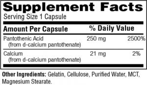 Pantothenic-Acid-Caps-250mg-facts