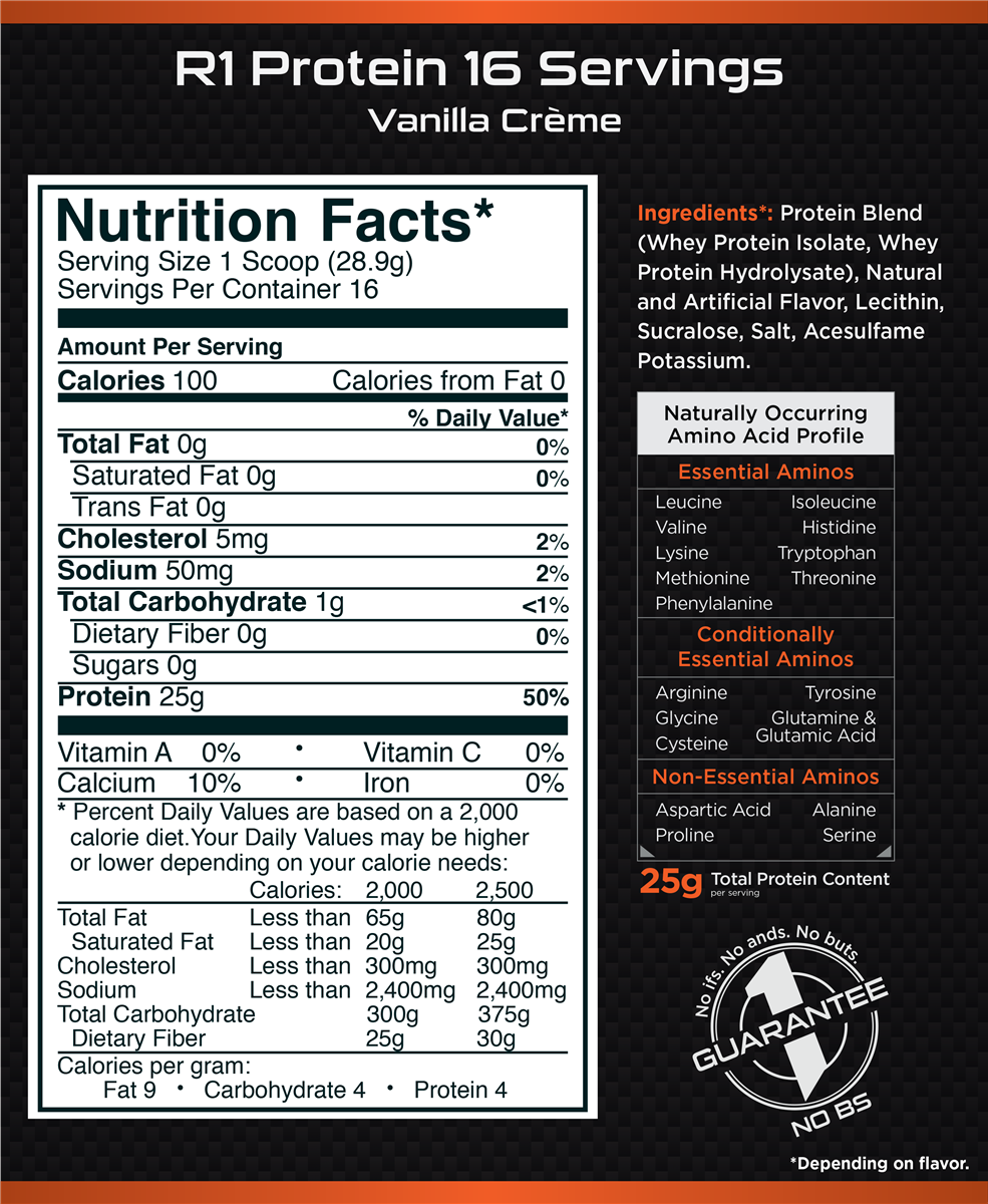 Rule One Proteins R1 Proteins 1lb – Power and Beauty